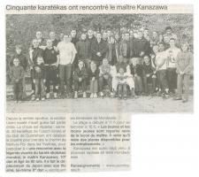 Cinquante karatékas ont rencontré le maître Kanazawa