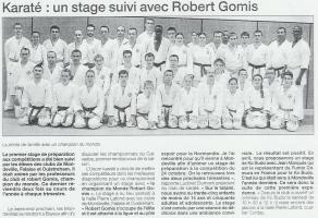 Karaté : un stage suivi avec Robert Gomis
