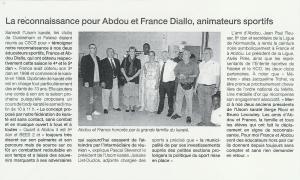 La reconnaissance pour Abdou et France Diallo, animateurs sportifs