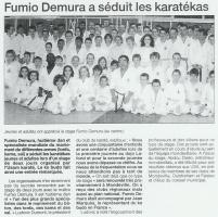 Fumio Demura a séduit les karatékas