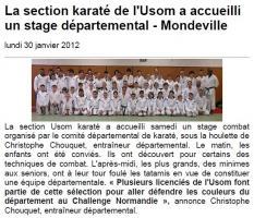 La section karaté de l'USOM a accueilli un stage départemental