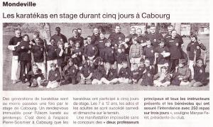 Les karatékas en stage durant cinq jours à Cabourg