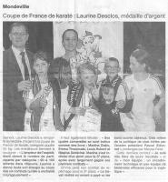Coupe de France de Karaté : Laurine Desclos, médaille d'argent
