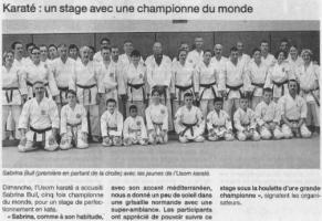 Karaté : Un stage avec une championne du monde