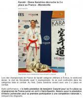 Karaté : Diana Sandrine décroche la 3e place au France