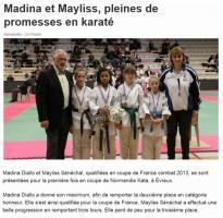 Madina et Maïlys : pleines de promesses en karaté