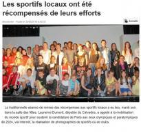 Les sportifs locaux ont été récompensés de leurs efforts